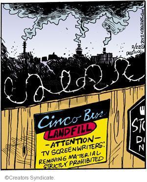 Cartoonist John Deering  Strange Brew 2012-02-22 television cartoon