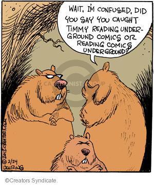 Comic Strip John Deering  Strange Brew 2012-02-24 catch