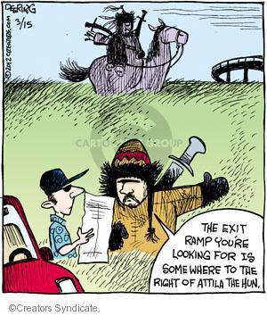 Cartoonist John Deering  Strange Brew 2012-03-15 highway