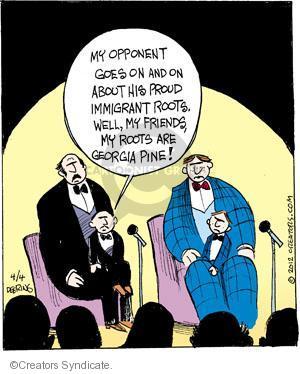 Comic Strip John Deering  Strange Brew 2012-04-04 debate