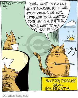 Comic Strip John Deering  Strange Brew 2012-04-07 check