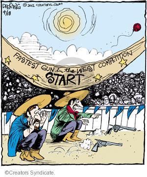 Comic Strip John Deering  Strange Brew 2012-04-18 gun