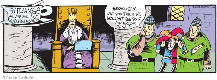 Comic Strip John Deering  Strange Brew 2012-05-06 your