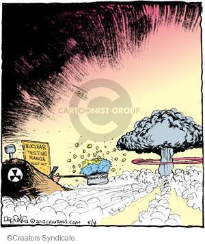 Comic Strip John Deering  Strange Brew 2012-05-04 nuclear test