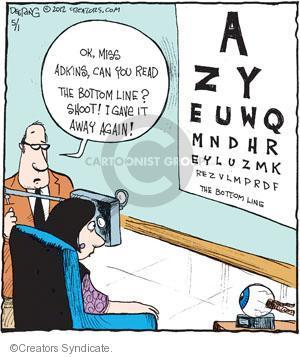 Comic Strip John Deering  Strange Brew 2012-05-01 vision