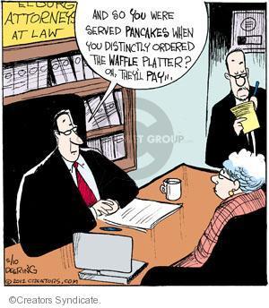 Comic Strip John Deering  Strange Brew 2012-05-10 pancake