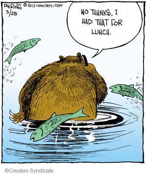 Comic Strip John Deering  Strange Brew 2012-05-28 fish