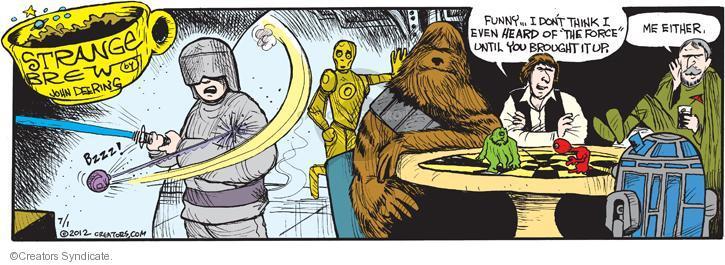 Comic Strip John Deering  Strange Brew 2012-07-01 science fiction movie