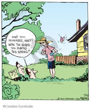 Comic Strip John Deering  Strange Brew 2012-06-25 plant