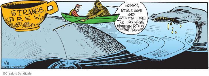 Comic Strip John Deering  Strange Brew 2012-07-08 Bob