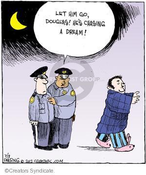 Comic Strip John Deering  Strange Brew 2012-07-03 chase