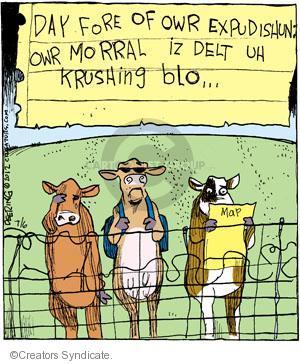Cartoonist John Deering  Strange Brew 2012-07-06 cattle