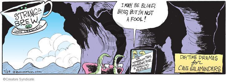 Cartoonist John Deering  Strange Brew 2012-07-29 television cartoon