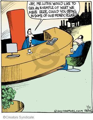 Comic Strip John Deering  Strange Brew 2012-07-31 company