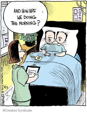 Comic Strip John Deering  Strange Brew 2012-08-13 nurse