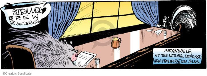 Comic Strip John Deering  Strange Brew 2012-09-02 natural defense
