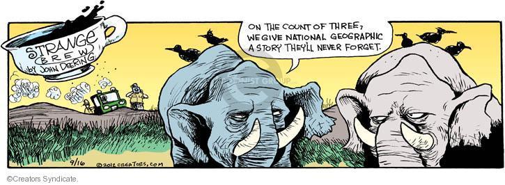 Comic Strip John Deering  Strange Brew 2012-09-16 National Geographic