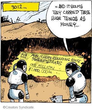 Comic Strip John Deering  Strange Brew 2012-09-15 check