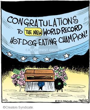 Cartoonist John Deering  Strange Brew 2012-10-03 hot dog