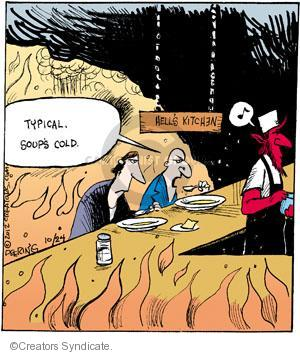 Cartoonist John Deering  Strange Brew 2012-10-24 kitchen
