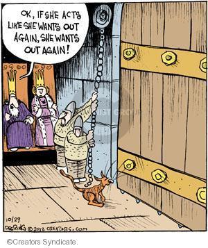 Cartoonist John Deering  Strange Brew 2012-10-29 guard