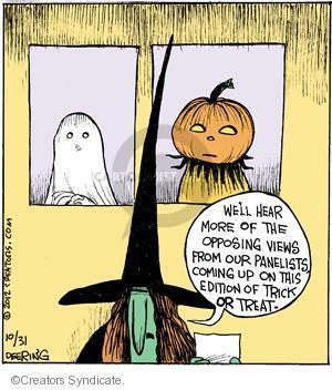 Comic Strip John Deering  Strange Brew 2012-10-31 trick