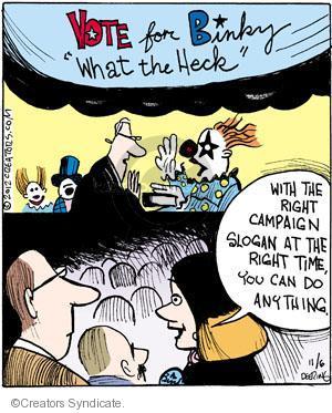Comic Strip John Deering  Strange Brew 2012-11-06 presidential election
