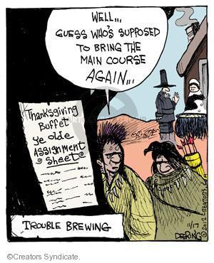 Comic Strip John Deering  Strange Brew 2012-11-17 Thanksgiving