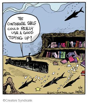 Comic Strip John Deering  Strange Brew 2012-11-19 bookshelf