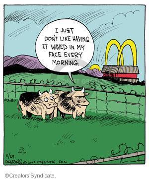 Cartoonist John Deering  Strange Brew 2012-11-29 hamburger