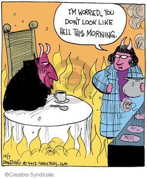 Comic Strip John Deering  Strange Brew 2012-12-07 Satan