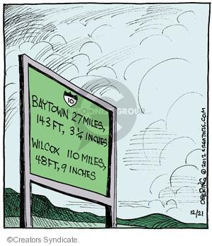 Cartoonist John Deering  Strange Brew 2012-12-21 highway
