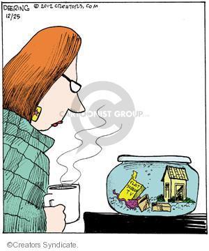 Comic Strip John Deering  Strange Brew 2012-12-25 fish
