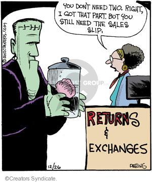 Comic Strip John Deering  Strange Brew 2012-12-26 brain