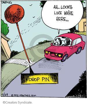 Comic Strip John Deering  Strange Brew 2012-12-29 drop