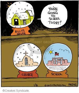 Comic Strip John Deering  Strange Brew 2013-01-08 parochial school