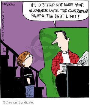Comic Strip John Deering  Strange Brew 2013-01-10 debt limit