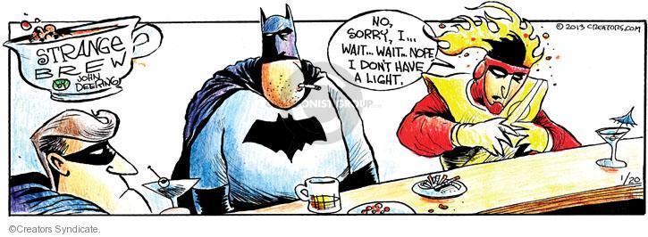 Cartoonist John Deering  Strange Brew 2013-01-20 cigarette