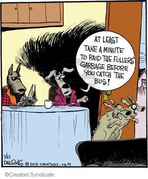 Comic Strip John Deering  Strange Brew 2013-01-21 catch