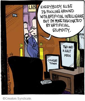 Cartoonist John Deering  Strange Brew 2013-02-04 television cartoon