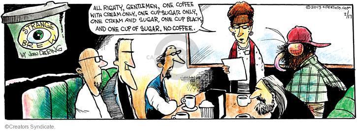 Comic Strip John Deering  Strange Brew 2013-02-17 black