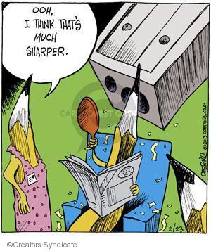 Comic Strip John Deering  Strange Brew 2013-02-23 point