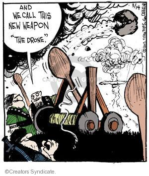 Comic Strip John Deering  Strange Brew 2013-03-14 armament