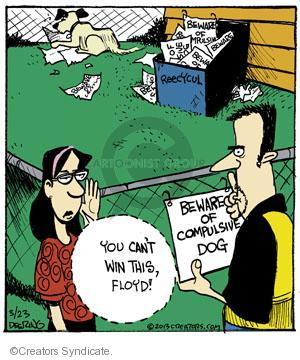 Comic Strip John Deering  Strange Brew 2013-03-23 beware of dog
