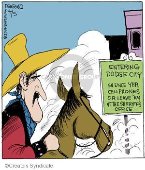 Comic Strip John Deering  Strange Brew 2013-04-05 gun