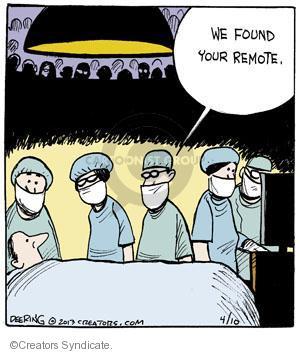 Cartoonist John Deering  Strange Brew 2013-04-10 television cartoon