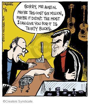 Cartoonist John Deering  Strange Brew 2013-04-11 television cartoon