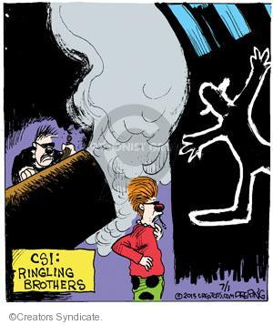 Comic Strip John Deering  Strange Brew 2013-07-01 crime scene