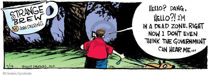 Comic Strip John Deering  Strange Brew 2013-07-14 wiretap