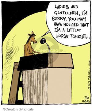 Comic Strip John Deering  Strange Brew 2013-07-18 speech